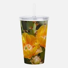 Yellow Prickly Pear Bl Acrylic Double-wall Tumbler