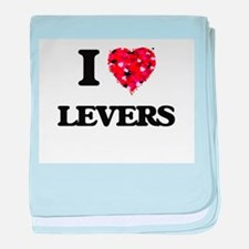 I Love Levers baby blanket