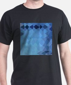 Blizzard Blue Abstract Low Polygon Background T-Sh