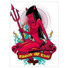 Devil Pin-Up Girl - Touch of evil Poster