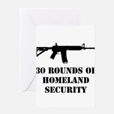 30 Rounds of Homeland Security Greeting Cards