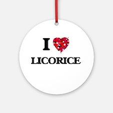 I Love Licorice Ornament (Round)