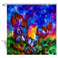 Monarchs At Sunset Shower Curtain