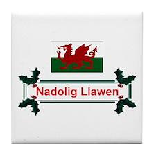 Wales Nadolig Llawen Tile Coaster