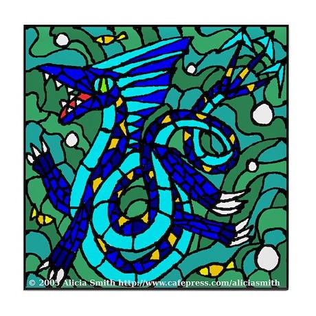 Polar Sea Serpent Tile Coaster
