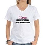 I Love My ACADEMIC LIBRARIAN Women's V-Neck T-Shir