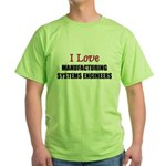 I Love My ACADEMIC LIBRARIAN Green T-Shirt