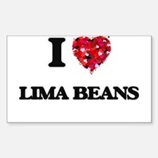 I Love Lima Beans Decal