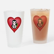 Kidney- Jesus Loves Me Heart Drinking Glass