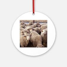 Sheep Herd Ornament (Round)