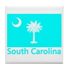 South Carolina Flag Tile Coaster