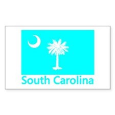 South Carolina Flag Rectangle Decal