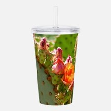 Prickly Pear Blooms Acrylic Double-wall Tumbler