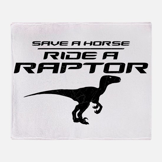 Save a Horse, Ride a Raptor Stadium Blanket