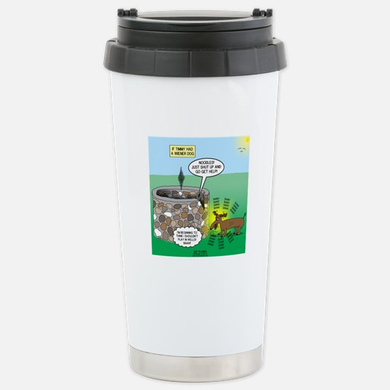 Timmys Wiener Dog Stainless Steel Travel Mug