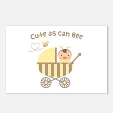 Cute Bumble Bee Baby in Stroller Postcards (Packag