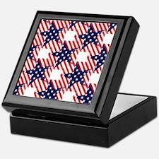 patriotic star Keepsake Box