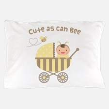 Cute Bumble Bee Baby in Stroller Pillow Case