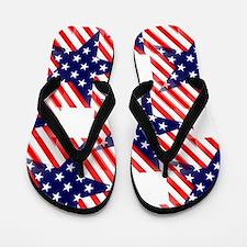 patriotic star Flip Flops