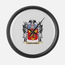 Fernando Coat of Arms - Family Cr Large Wall Clock