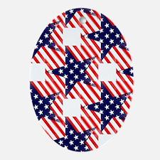 patriotic star Ornament (Oval)