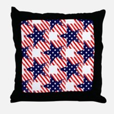 patriotic star Throw Pillow