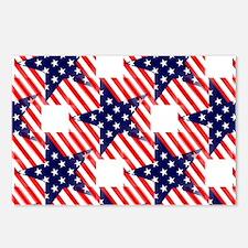 patriotic star Postcards (Package of 8)