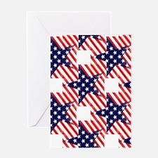 patriotic star Greeting Cards