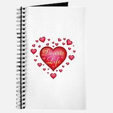 Donate Life Heart burst Journal
