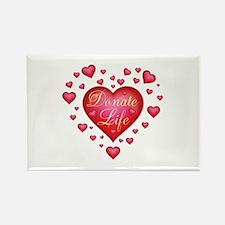 Donate Life Heart burst Rectangle Magnet