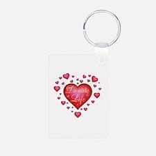 Donate Life Heart burst Aluminum Photo Keychain