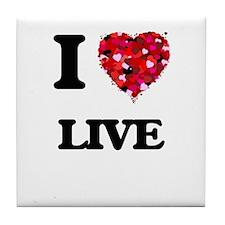 I Love Live Tile Coaster
