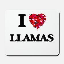 I Love Llamas Mousepad