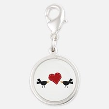 CROWS AND HEART Charms
