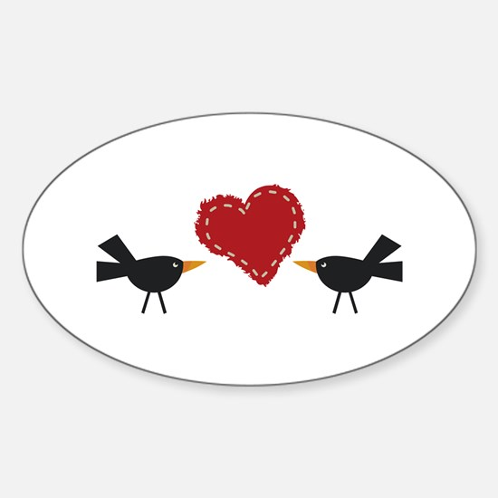 CROWS AND HEART Decal
