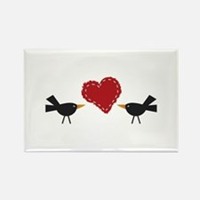 CROWS AND HEART Magnets