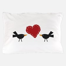 CROWS AND HEART Pillow Case