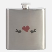 CROWS AND HEART Flask