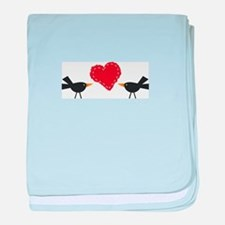 CROWS AND HEART baby blanket