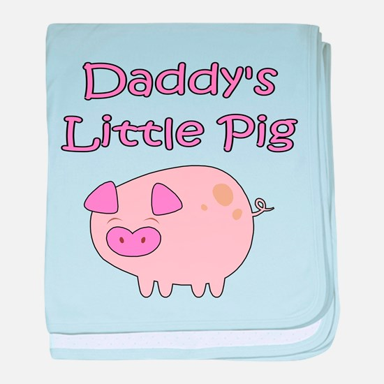 DADDY'S LITTLE PIG baby blanket