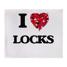 I Love Locks Throw Blanket