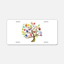 Tree Of Hands Aluminum License Plate