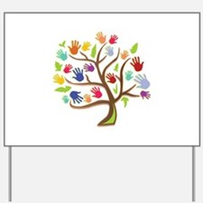 Tree Of Hands Yard Sign