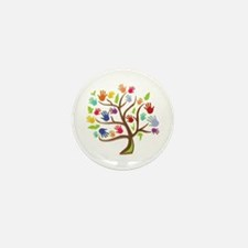 Tree Of Hands Mini Button (100 pack)