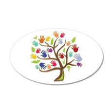 Tree Of Hands Wall Decal