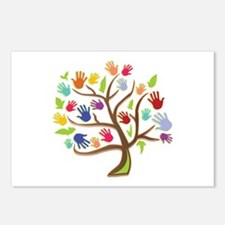 Tree Of Hands Postcards (Package of 8)