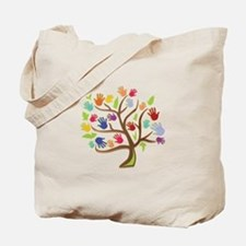 Tree Of Hands Tote Bag