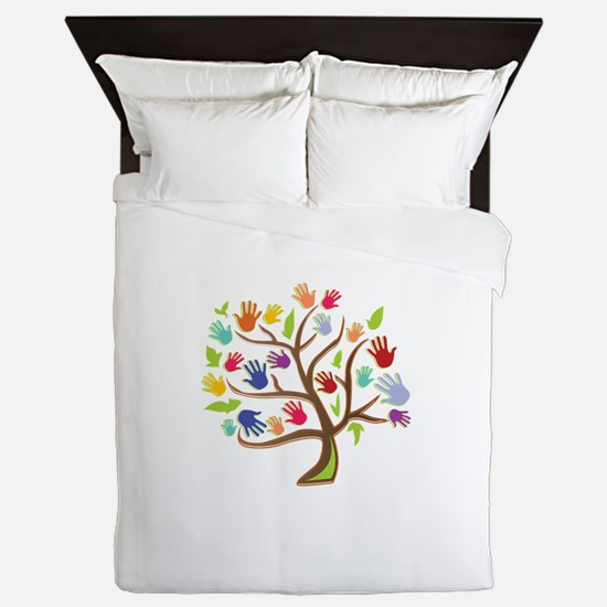 Tree Of Hands Queen Duvet