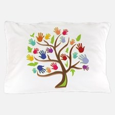 Tree Of Hands Pillow Case