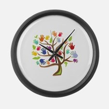 Tree Of Hands Large Wall Clock